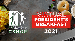 Support the Sharing Shop at the 2021 President's Breakfast